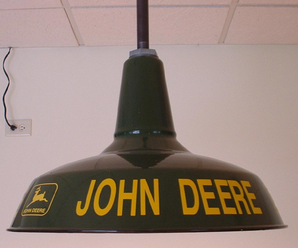 Jd Green Lamp Shades : S vintage quot green porcelain lights john deere