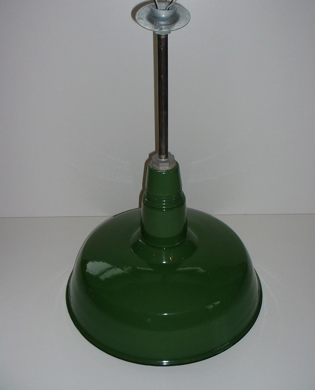 """Appleton Light Vintage Industrial: (1) VTG Appleton 20"""" Porcelain Industrial CAGE Green Barn"""