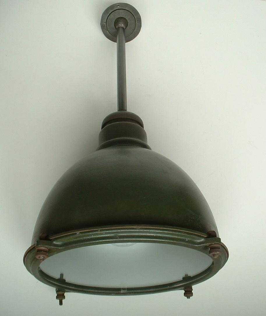 1920's WESTINGHOUSE Vapor Proof Green Industrial Factory