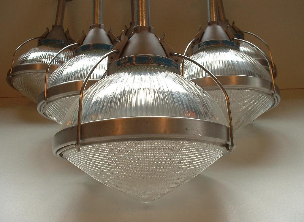 1 1930s Vintage Holophane Dust Tight Light Industrial