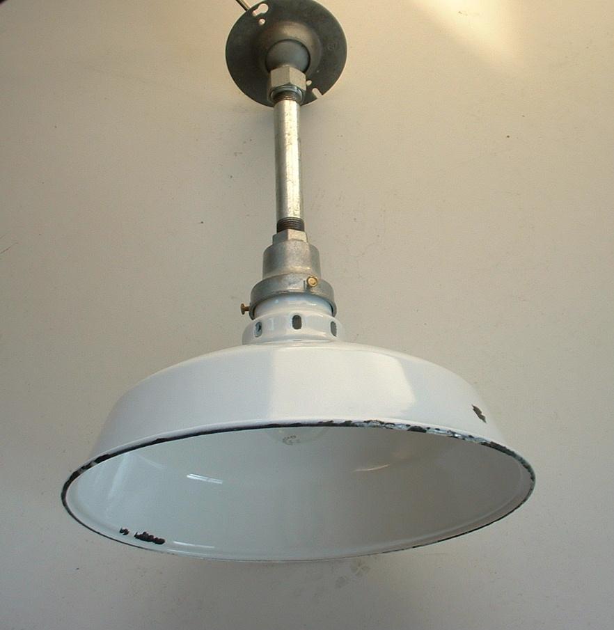 Appleton 12 white porcelain barn light old vtg industrial lamp ul appleton 12white ventilated top arubaitofo Gallery