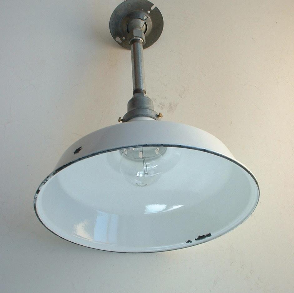 """Appleton Light Vintage Industrial: Appleton 12"""" White Porcelain Barn Light Old VTG Industrial"""