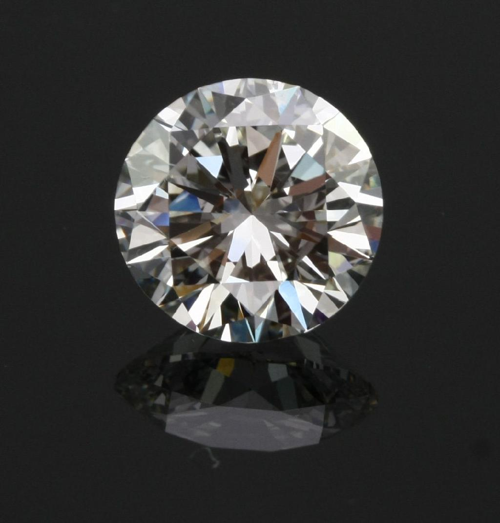 3ct 9mm Round Synthetic Crystal Carbon Stone Outshines