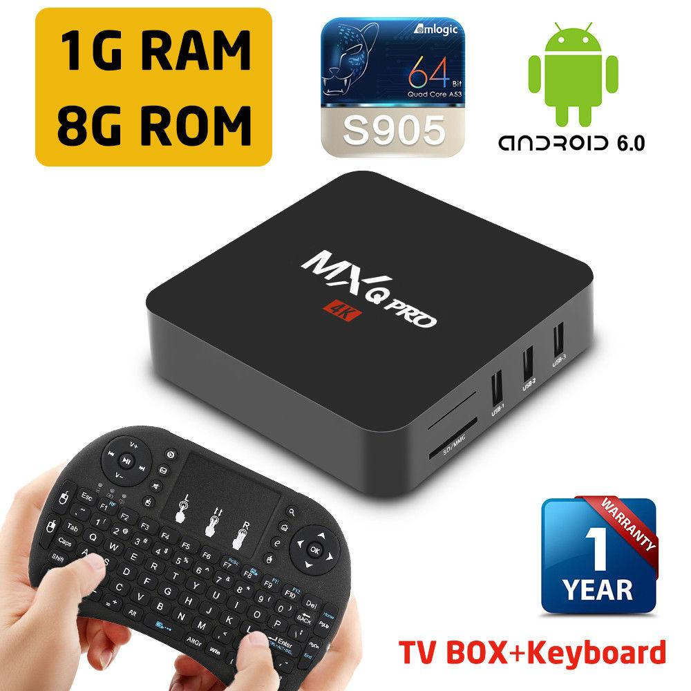 Us Stock Mxq Pro Smart Android 712 Tv Box Amlogic S905 4k Wifi Hdmi Keyboard